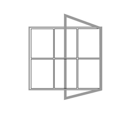 Hliníková magnetická informační vitrína  6xA4