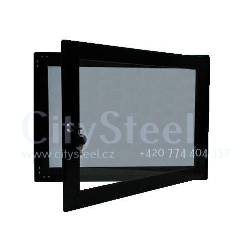 Hliníková magnetická informační vitrína H40 400×550 2xA4 www.citysteel.cz