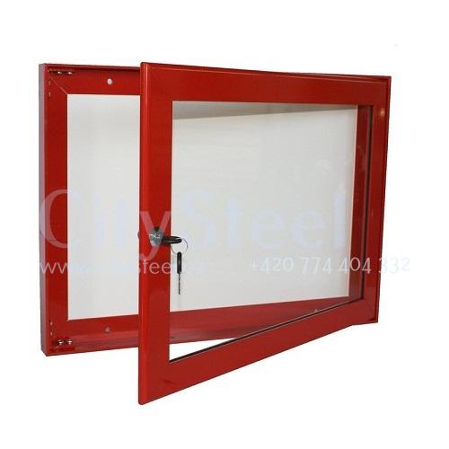 Hliníková magnetická informační vitrína H40 400x550 2xA4 www.citysteel.cz