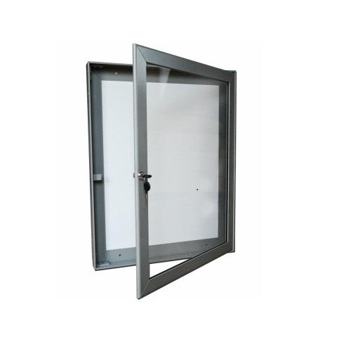 Hliníková magnetická informační vitrína H40 700x550 / 4xA4 www.citysteel.cz