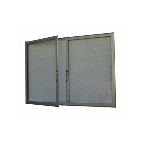 Hlinikova magneticka reklamni informacni vitrina s dvoukřídlými dveřmi HD40 1000x1040 / 12xA4 www.citysteel.cz