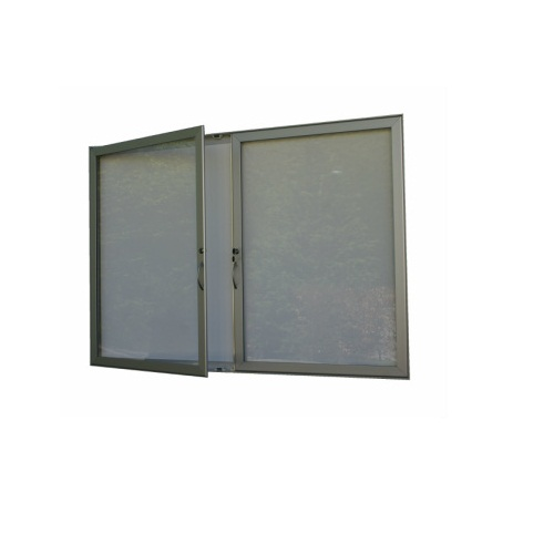 Hlinikova magneticka reklamni informacni vitrina s dvoukřídlými dveřmi HD40 1000x1440 / 18xA4 www.citysteel.cz