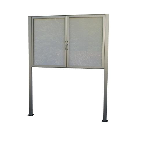 Sloupy připevnění k betonu pro hlinikove magneticke informacni vitriny www.citysteel.cz