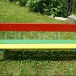 Lavička pro děti vhodná na zahradu mateřských i základních škol