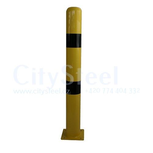 Protinárazový sloupek průměr 100mm slouží k ochraně proti nárazu do budov, strojů či regálů od www.citysteel.cz