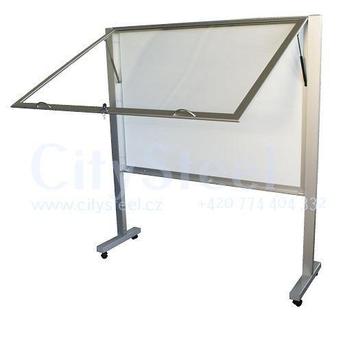Výroba atypických hliníkových reklamních magnetických informačných vitrín
