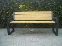 Parková lavička CITYHALL s opěrkou ( Kovová konstrukce barva RAL 7016 (antracitová) + latí dřeva barva Dub antik)
